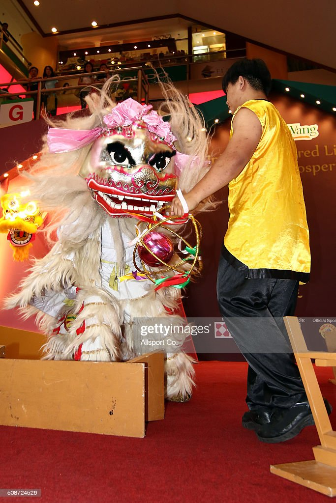 A Lion Dance performances in a shopping mall ahead of Lunar New Year of the monkey celebrations on February 6, 2016 in Kuala Lumpur, Malaysia. According to the Chinese Calendar, the Lunar New Year which falls on February 8 this year marks the Year of the Monkey, the Chinese Lunar New Year also known as the Spring Festival is celebrated from the first day of the first month of the lunar year and ends with Lantern Festival on the Fifteenth day.