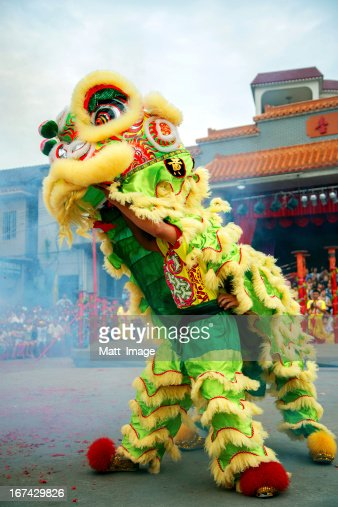 Dança do Leão : Foto de stock