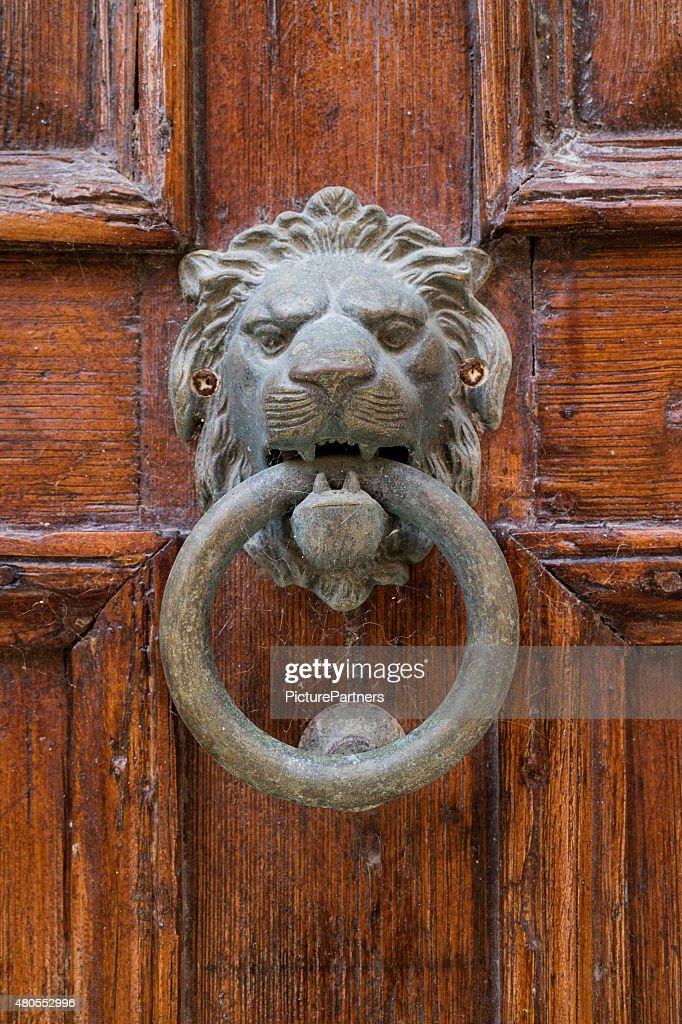 Lion head knocker : Stock Photo