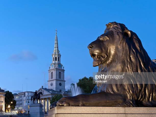 Lion à Trafalgar Square, Londres