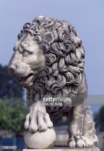 Lion statue from Chateau de Compiegne Picardy France