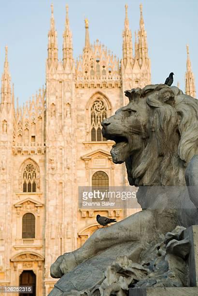 Lion statue in Milan