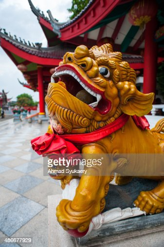 Lion Statue in Sam Poo Kong Temple