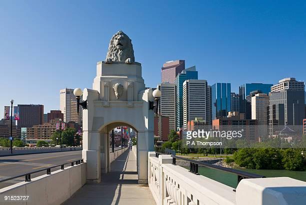 Lion Statue on Centre St Bridge, Calgary