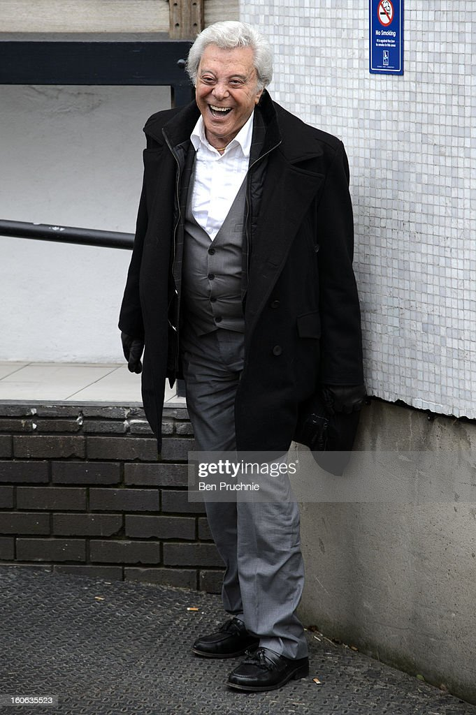 <a gi-track='captionPersonalityLinkClicked' href=/galleries/search?phrase=Lionel+Blair&family=editorial&specificpeople=652758 ng-click='$event.stopPropagation()'>Lionel Blair</a> sighted departing ITV Studios on February 4, 2013 in London, England.