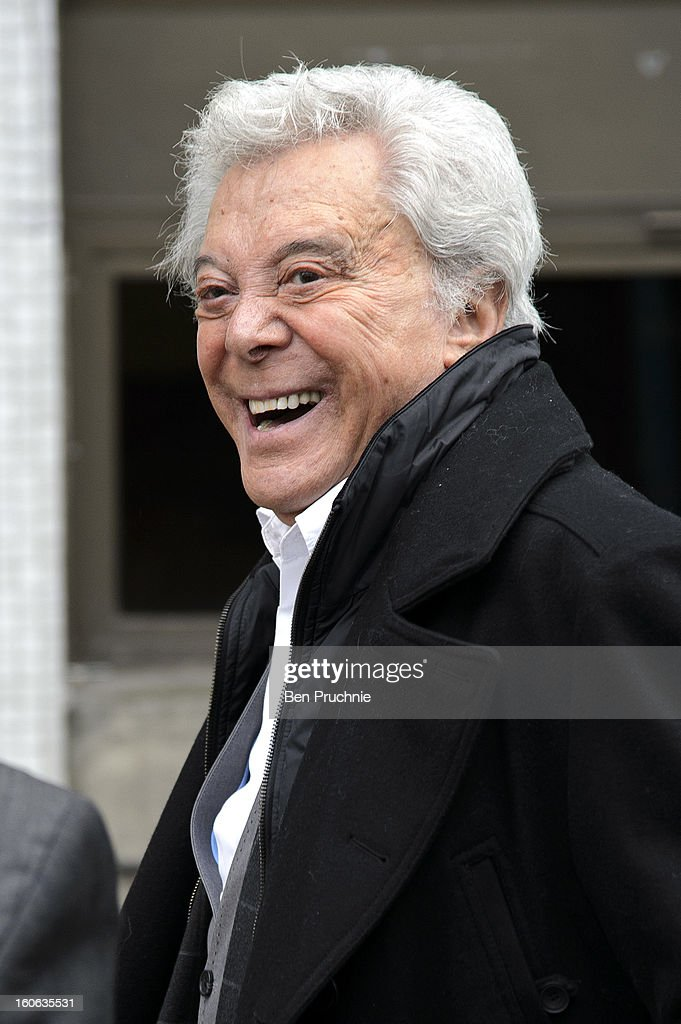 Lionel Blair sighted departing ITV Studios on February 4, 2013 in London, England.