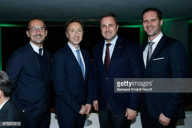 Lionel Bounoua Stephane Bern Prime Minister of Luxembourg Xavier Bettel and his husband Architect Gauthier Destenay attend the 22th Edition of ''Les...