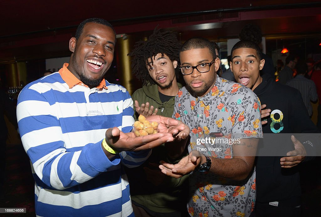 Lionel Boyce (L) attends the Adult Swim Upfront Party 2013 at Roseland Ballroom on May 15, 2013 in New York City. 23698_002_0039.JPG