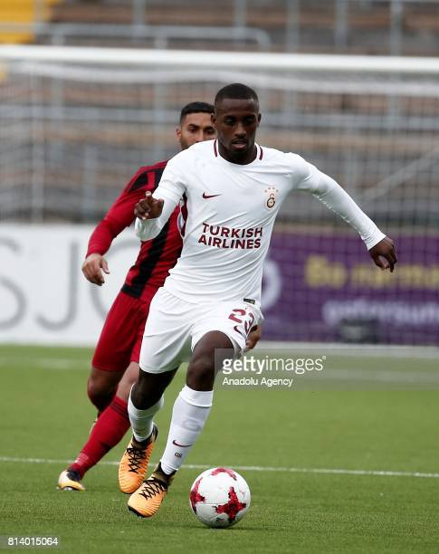 Lionel Carole of Galatasaray in action during the UEFA Europa League 2nd Qualifying Round soccer match between Galatasaray and Ostersund FK at...