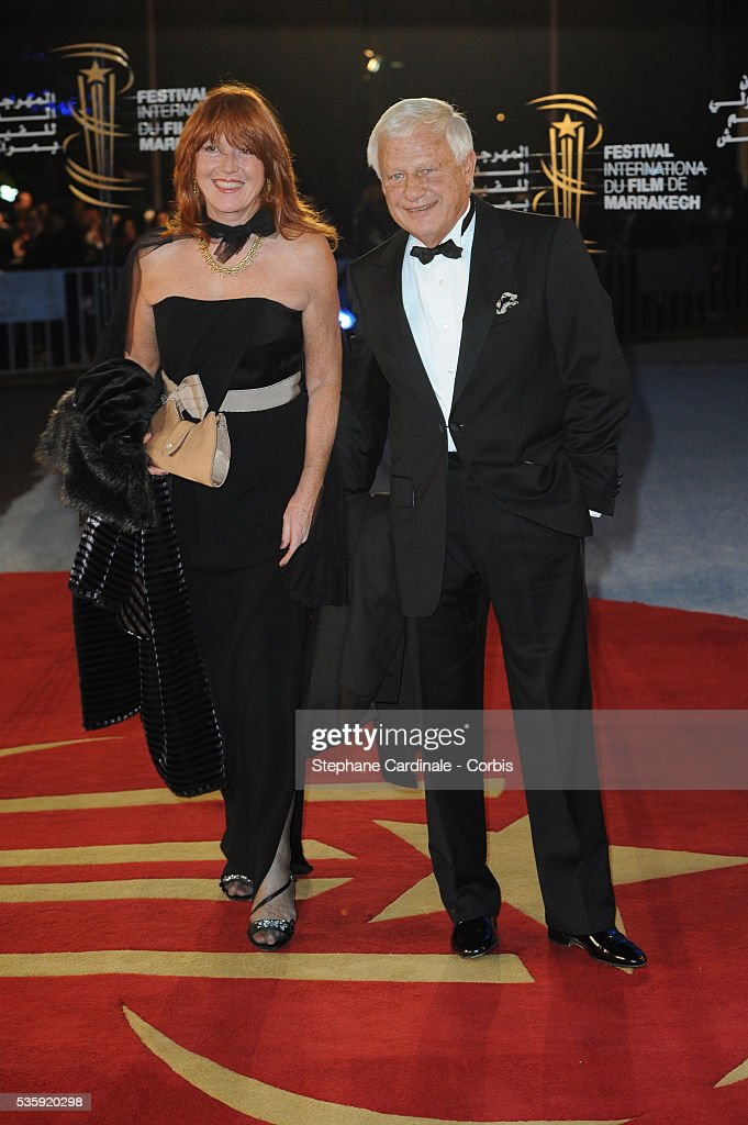 Lionel Chouchan with his Wife attend the Opening Ceremony of the Marrakech 10th Film Festival.