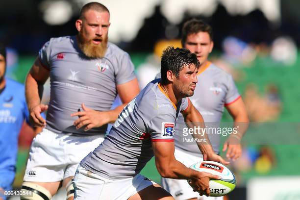 Lionel Cronje of the Kings passes the ball during the round seven Super Rugby match between the Force and the Kings at nib Stadium on April 9 2017 in...