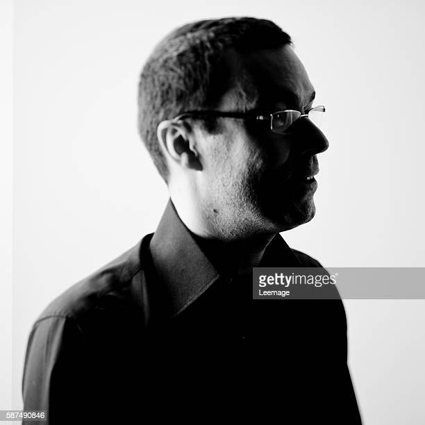 Lionel Esparza French journalist and producer at France Musique public radio attends La Folle Journée annual classical music festival held in Nantes