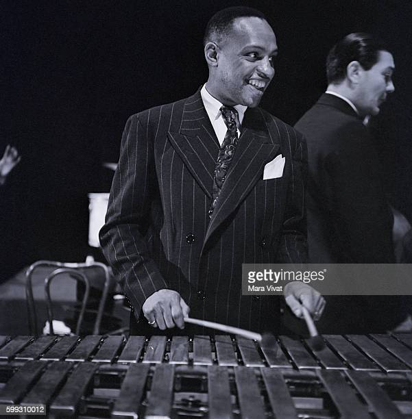Lionel Hampton plays the vibraphone in New York City New York USA