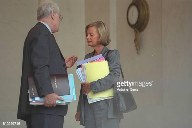 Lionel Jospin and Elisabeth Guigou