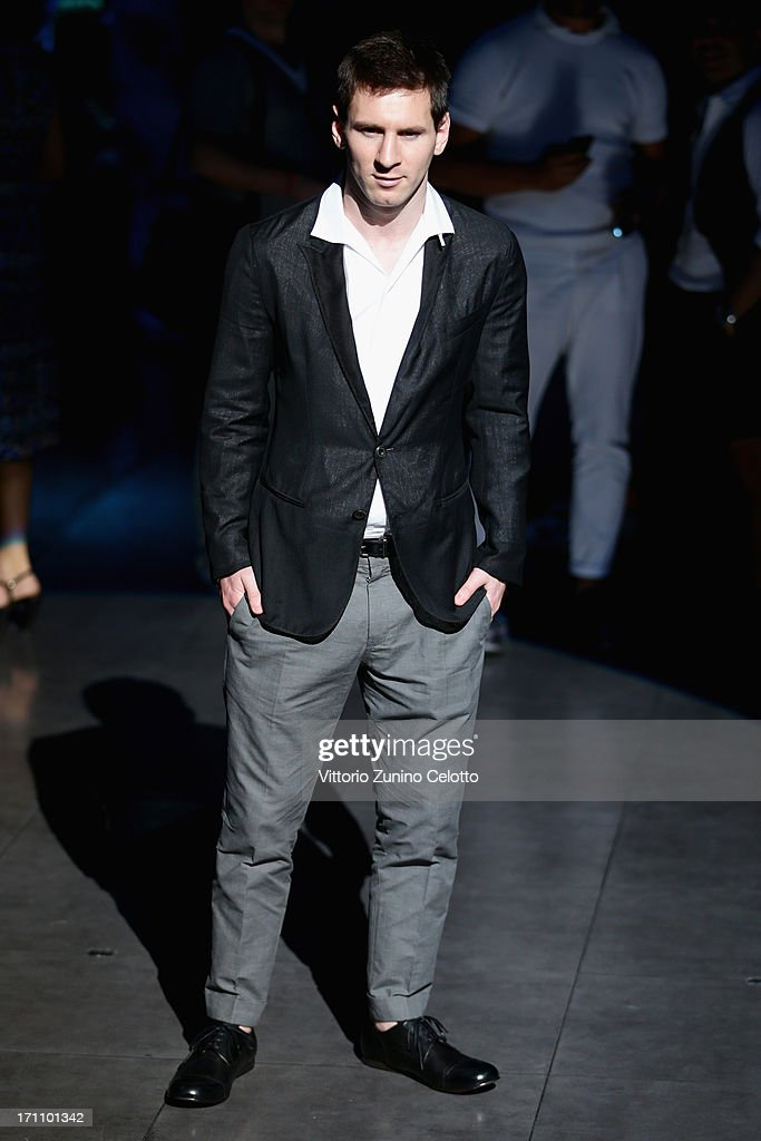 <a gi-track='captionPersonalityLinkClicked' href=/galleries/search?phrase=Lionel+Messi&family=editorial&specificpeople=453305 ng-click='$event.stopPropagation()'>Lionel Messi</a> attends the Dolce & Gabbana show during Milan Menswear Fashion Week Spring Summer 2014 on June 22, 2013 in Milan, Italy.