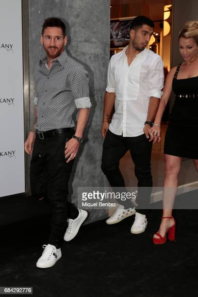 Lionel Messi attends the Sarkany Shoes Boutique Openeing in Barcelona on May 17 2017 in Barcelona Spain