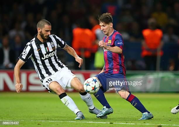 Lionel Messi FC Barcelona Leonardo Bonucci Fussball Championsleague Finale Final Juventus Turin FC Barcelona 13 Saison 2014 / 2015