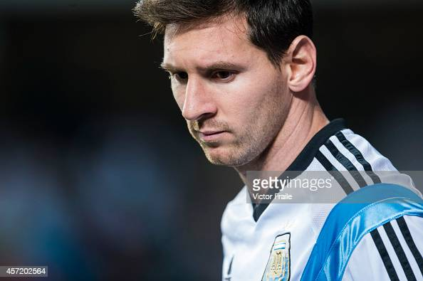 Lionel Messi of Argentina is seen as he warmss up during the International Friendly Match between Hong Kong and Argentina at the Hong Kong Stadium on...