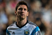 Lionel Messi of Argentina looks on as he warmss up during the International Friendly Match between Hong Kong and Argentina at the Hong Kong Stadium...