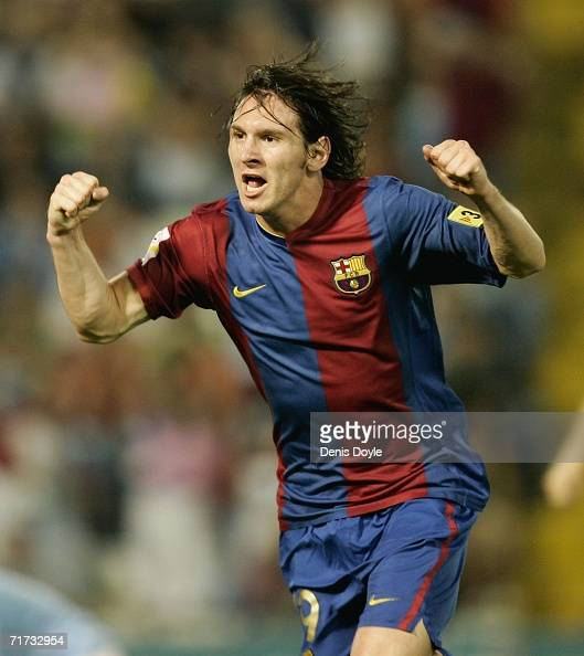 Barcelona Vs Celta Vigo Goals Today: Lionel Messi 2006 Stock Photos And Pictures
