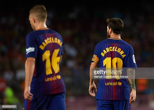 Lionel Messi of Barcelona during the La Liga match between Barcelona and Real Betis at Camp Nou on August 20 2017 in Barcelona Spain