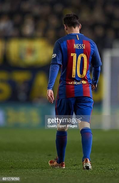 Lionel Messi of Barcelona during the La Liga match between Villarreal CF and FC Barcelona at Estadio de la Ceramica on January 08 2017 in Villarreal...