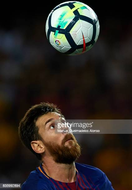 Lionel Messi of Barcelona in action during the La Liga match between Barcelona and Real Betis at Camp Nou on August 20 2017 in Barcelona Spain