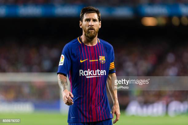 Lionel Messi of FC Barcelona during the match between FC Barcelona vs Real Betis Balompie for the round 1 of the Liga Santander played at Camp Nou...