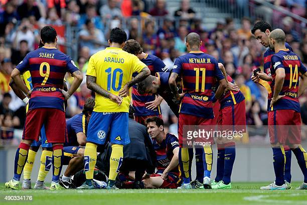 Lionel Messi of FC Barcelona during the Primera Division match between FC Barcelona and Las Palmas on September 26 2015 at Camp Nou stadium in...