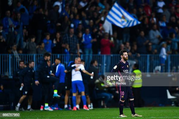 Malaga CF v FC Barcelona - La Liga : News Photo