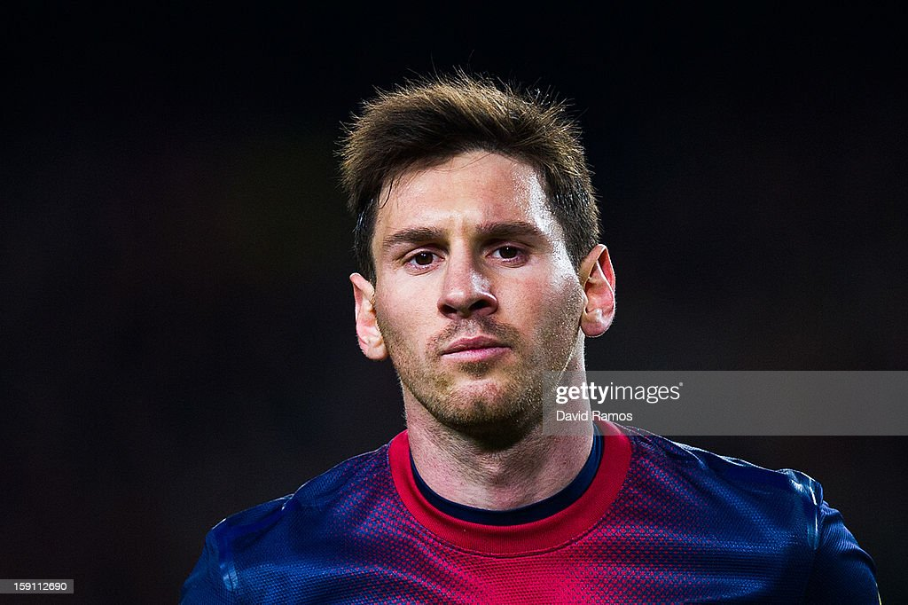 <a gi-track='captionPersonalityLinkClicked' href=/galleries/search?phrase=Lionel+Messi&family=editorial&specificpeople=453305 ng-click='$event.stopPropagation()'>Lionel Messi</a> of FC Barcelona looks on during the La Liga match between FC Barcelona and RCD Espanyol at Camp Nou on January 6, 2013 in Barcelona, Spain.