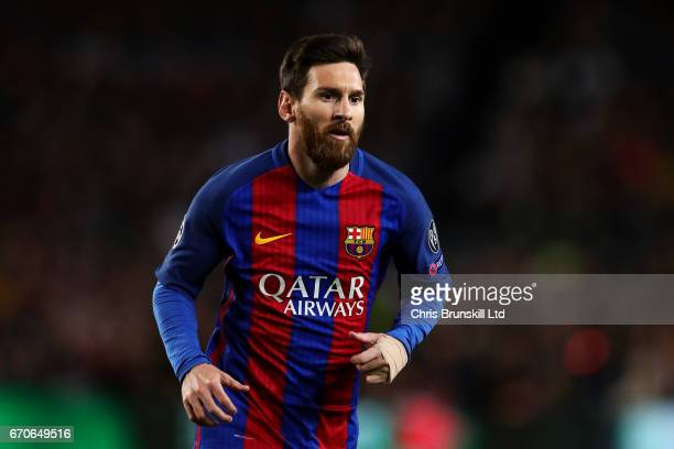 Lionel Messi of FC Barcelona looks on during the UEFA Champions League Quarter Final second leg match between FC Barcelona and Juventus at Camp Nou...