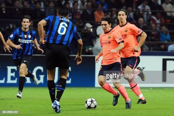 Lionel MESSI / Zlatan IBRAHIMOVIC Inter Milan / Barcelone Champions League 2009/2010 Stade Giuseppe Meazza Milan