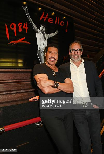 Lionel Richie and Alan Silfen attend the exclusive Lionel Richie exhibition 'STILL' by US photographer Alan Silfen at Dorchester Collections Mayfair...