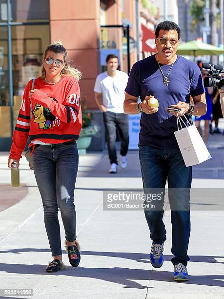 Lionel Richie and his daughter Sofia Richie are seen on September 02 2016 in Los Angeles California