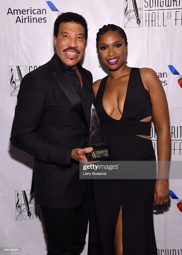 Lionel Richie (L) and Jennifer Hudson attend Songwriters Hall Of Fame 47th Annual Induction And Awards at Marriott Marquis Hotel on June 9, 2016 in New York City.