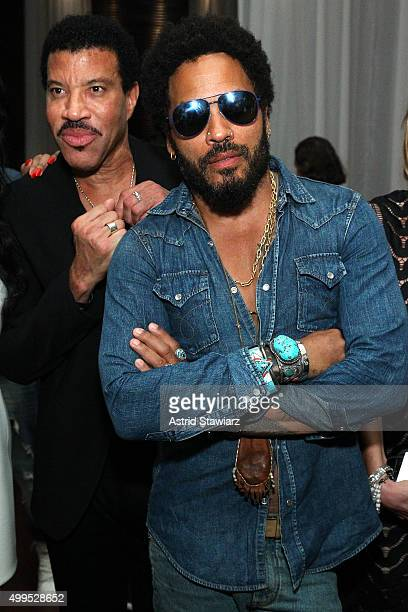 Lionel Richie and Lenny Kravitz attend DuJour Magazine's Jason Binn Celebrates Annual Art Basel Miami Beach KickOff Party presented by Blackberry...