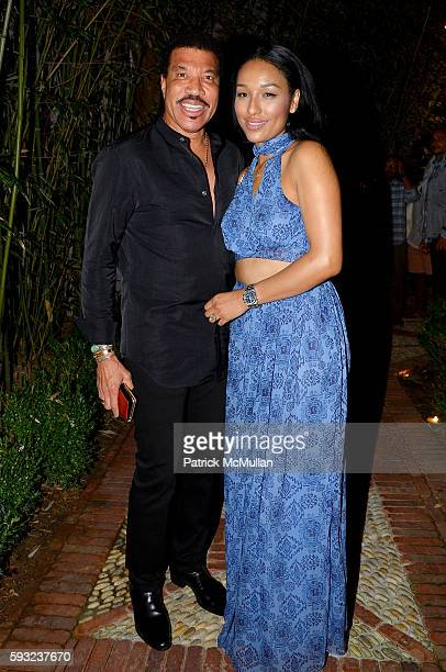 Lionel Richie and Lisa Parigi attend the Apollo in the Hamptons 2016 party at The Creeks on August 20 2016 in East Hampton New York