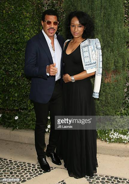 Lionel Richie and Lisa Parigi attend the Rape Foundation's Annual Brunch held at the Greenacres the private estate of Ron Burkle on October 4 2015 in...