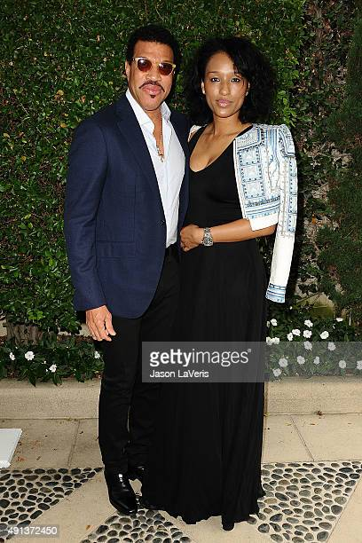 Lionel Richie and Lisa Parigi attend the Rape Foundation's annual brunch at Greenacres The Private Estate of Ron Burkle on October 4 2015 in Beverly...