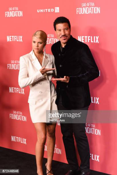 Lionel Richie and Sofia Richie attend SAGAFTRA Foundation Patron of the Artists Awards 2017 Arrivals at Wallis Annenberg Center for the Performing...