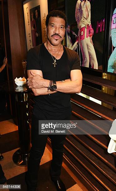 Lionel Richie attends the exclusive Lionel Richie exhibition 'STILL' by US photographer Alan Silfen at Dorchester Collections Mayfair hotel 45 Park...