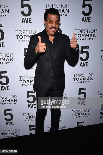 Lionel Richie attends the Topshop Topman New York City flagship opening dinner at Grand Central Terminal on November 4 2014 in New York City