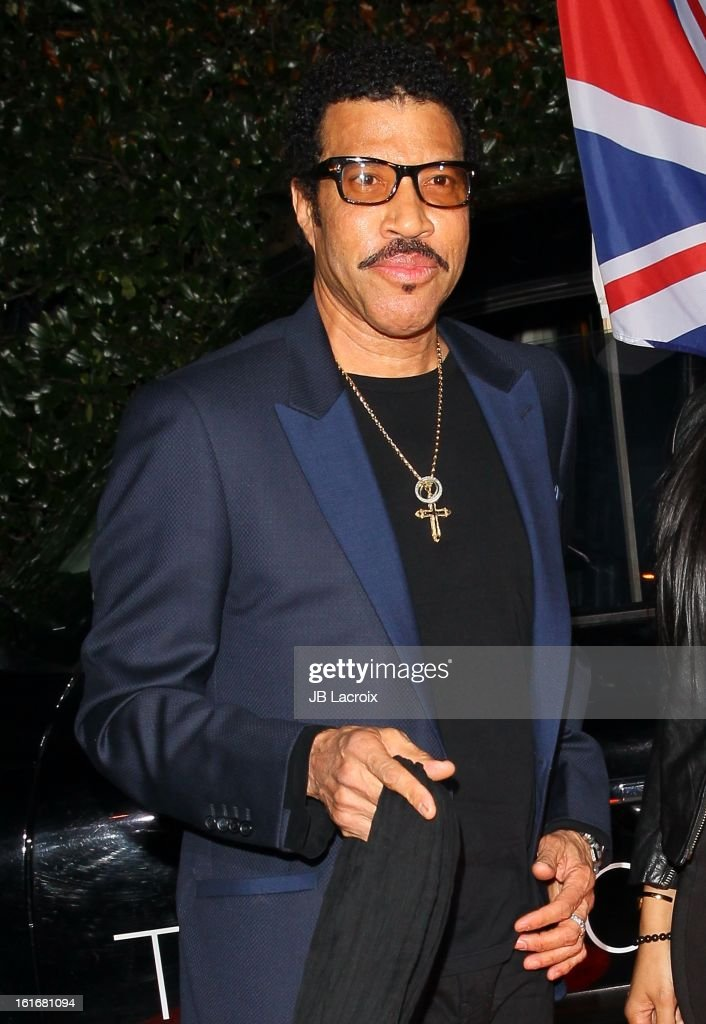 Lionel Richie attends the Topshop Topman LA Opening Party held at Cecconi's Restaurant on February 13, 2013 in Los Angeles, California.