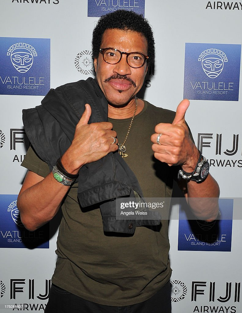 <a gi-track='captionPersonalityLinkClicked' href=/galleries/search?phrase=Lionel+Richie&family=editorial&specificpeople=204139 ng-click='$event.stopPropagation()'>Lionel Richie</a> attends the Vatulele Island Resort launch event in Los Angeles, California, on July 31, 2013 in Los Angeles, California.