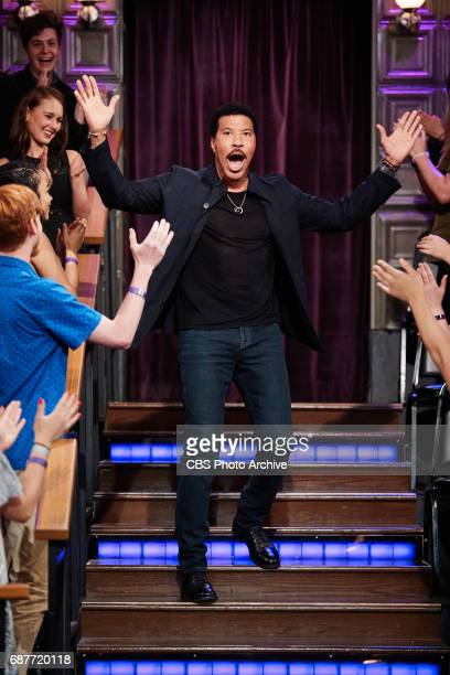Lionel Richie greets the audience during 'The Late Late Show with James Corden' Monday May 22 2017 On The CBS Television Network