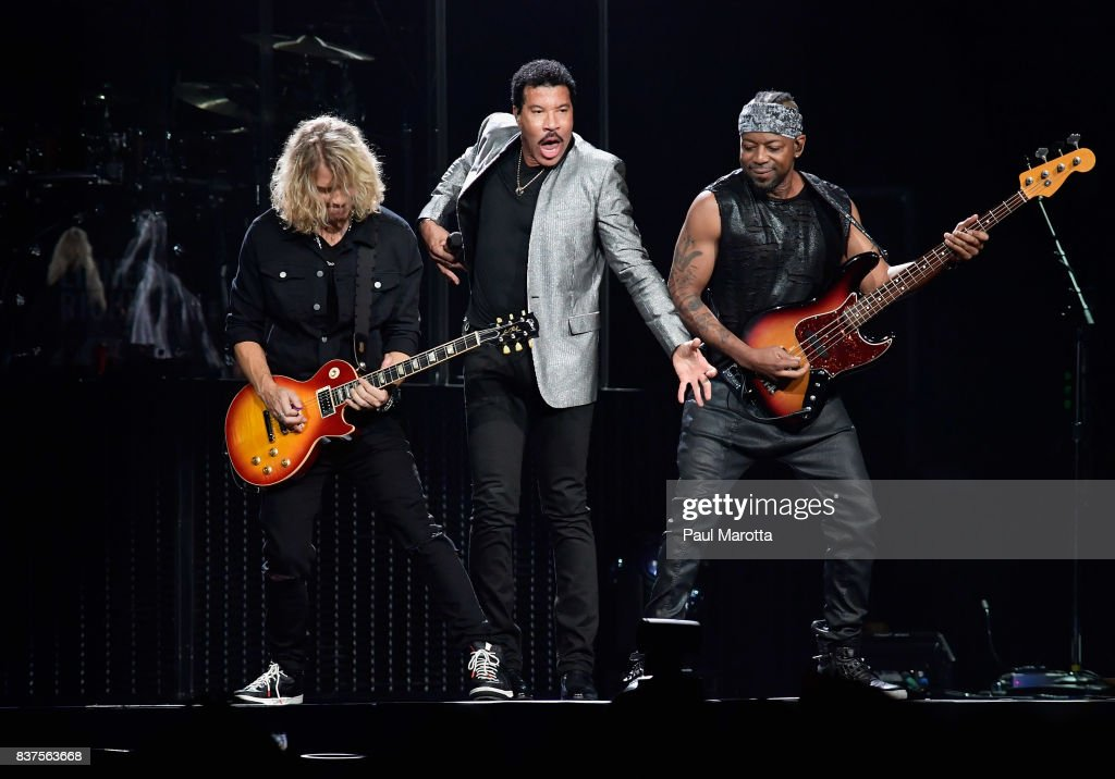 Lionel Richie performs at TD Garden on August 22, 2017 in Boston, Massachusetts. In May 2017 Richie received an Honorary Doctor of Music Degree from Berklee College of Music in Boston.