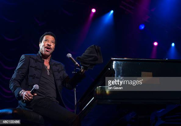 Lionel Richie performs on Day 2 of The Henley Festival on July 9 2015 in HenleyonThames England
