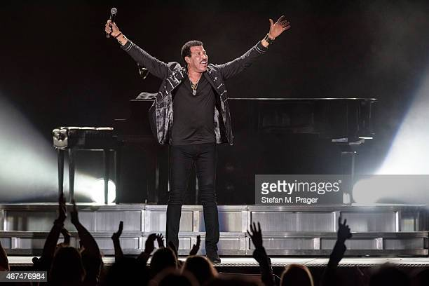 Lionel Richie performs on stage at Olympiahalle on March 24 2015 in Munich Germany