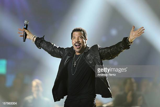 Lionel Richie performs on stage during the Andrea Berg 'Die 20 Jahre Show' at Baden Arena on December 7 2012 in Offenburg Germany